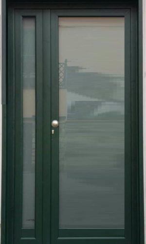 portoncino alluminio vetro